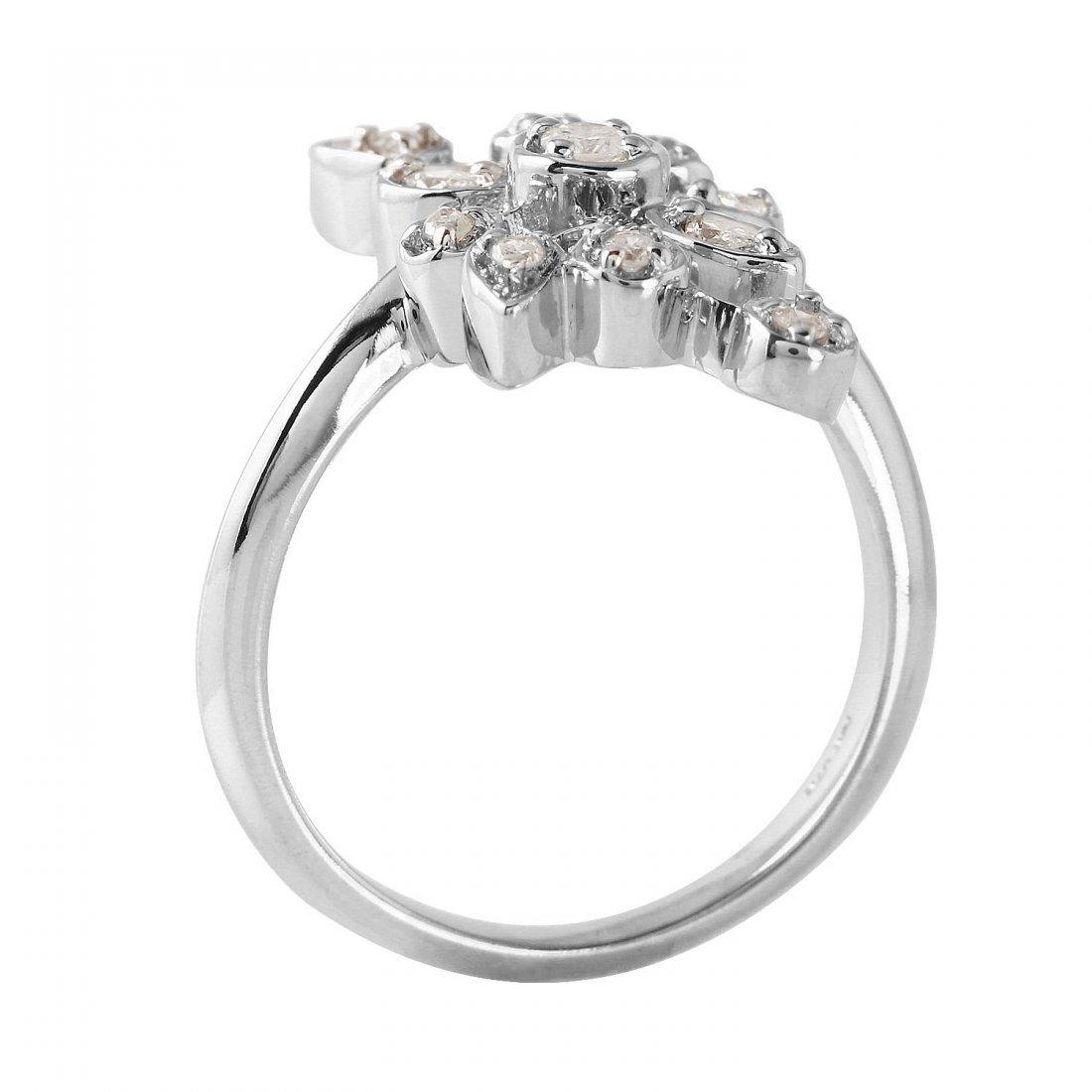 Ladies 0.26CTW Diamond 10k White Gold Ring - 2