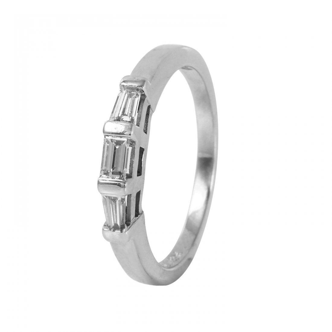 Ladies 0.35CTW Diamond 18K White Gold Ring