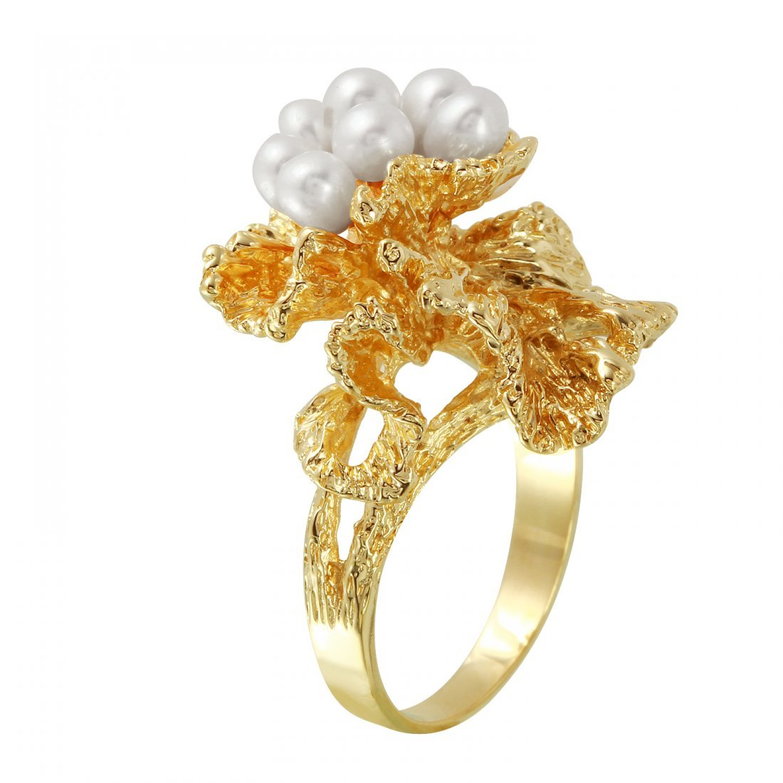 Ladies 3-4MM Freshwater Pearl 14K Yellow Gold Ring - 2