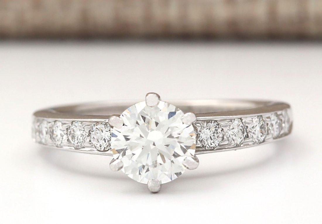 Authentic TIFFANY&CO 1.16CTW Diamond Ring in Platinum