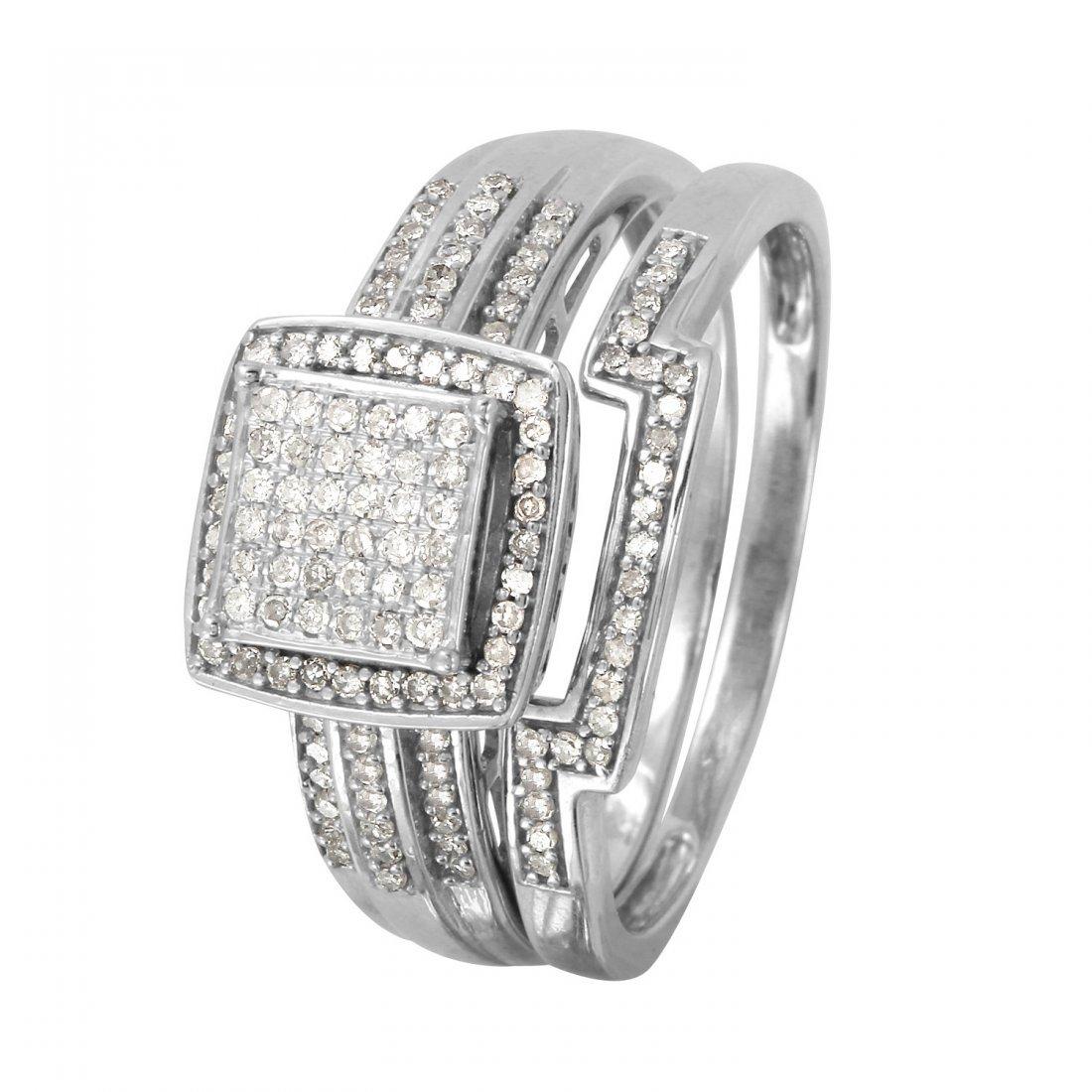Ladies 0.38CTW Diamond 10k White Gold Ring