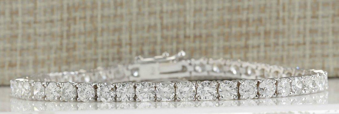 9.37CTW Natural Diamond Bracelet In 14K White Gold