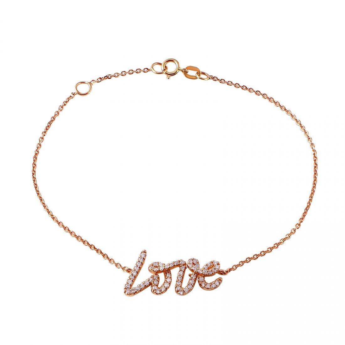 Ladies 0.31CTW Diamond 14K Rose Gold Bracelet