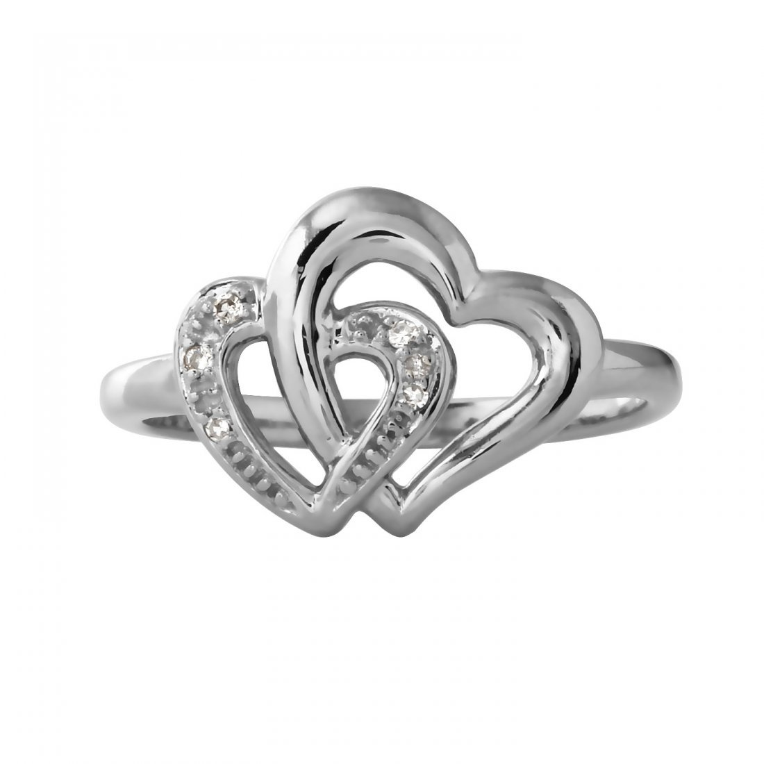 Ladies 0.04CTW Diamond 10k White Gold Ring