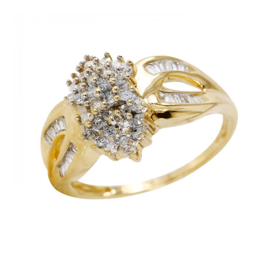 Ladies 0.5CTW Diamond 10k Yellow Gold Ring