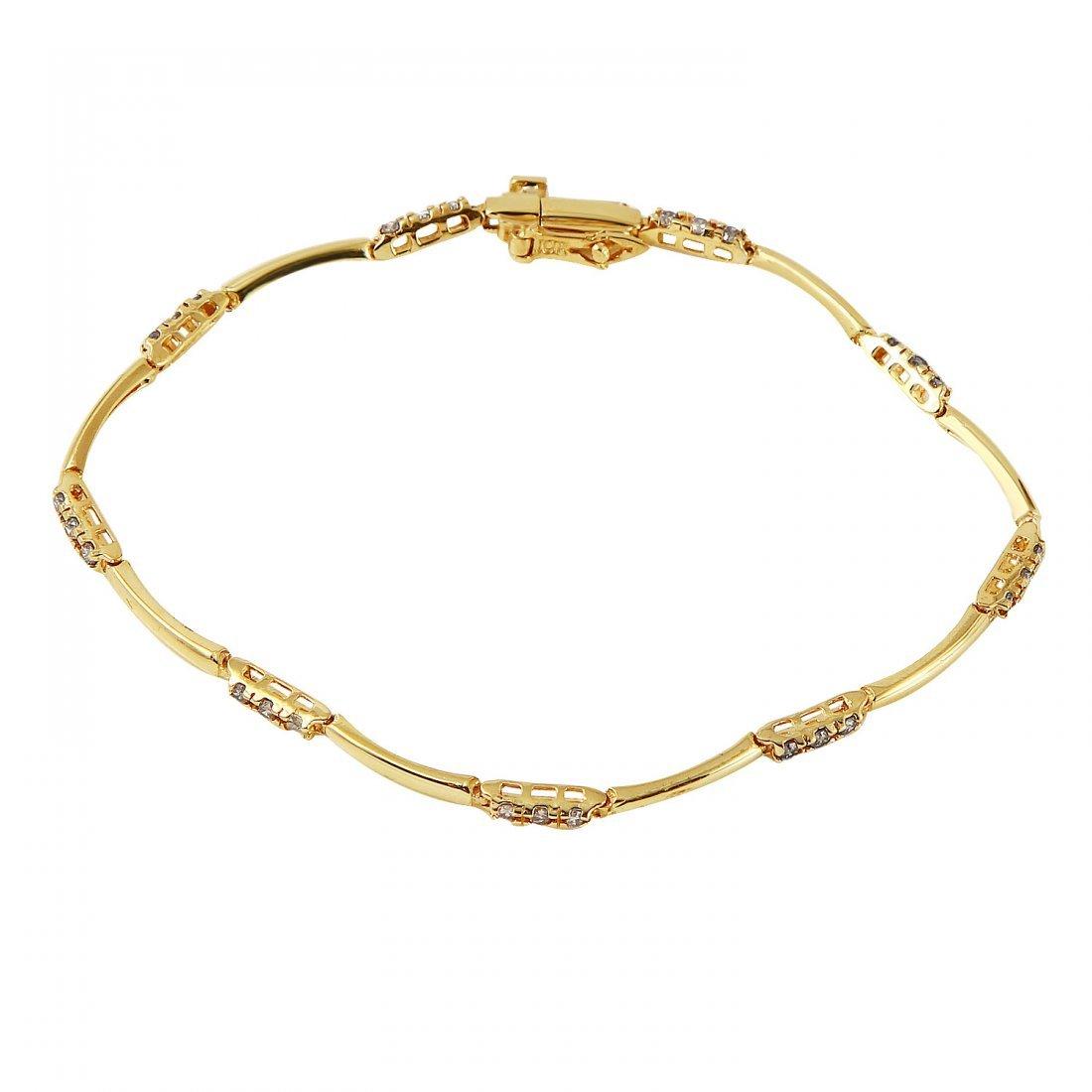 Ladies 0.54CTW Diamond 10k Yellow Gold Bracelet