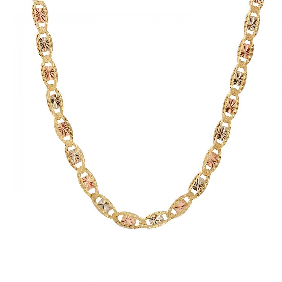 Ladies 10K Three tone Gold Necklace