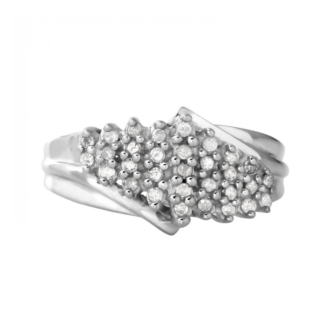 Ladies 0.31CTW Diamond 10k White Gold Ring