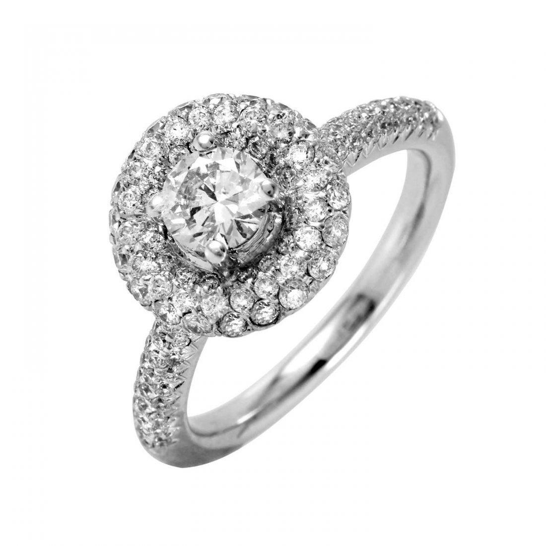 Ladies 1.25CTW Diamond 18k White Gold Ring