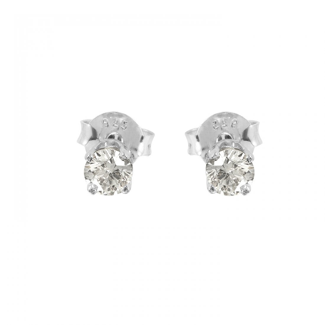 Ladies 0.33CTW Diamond 14K White Gold Earrings