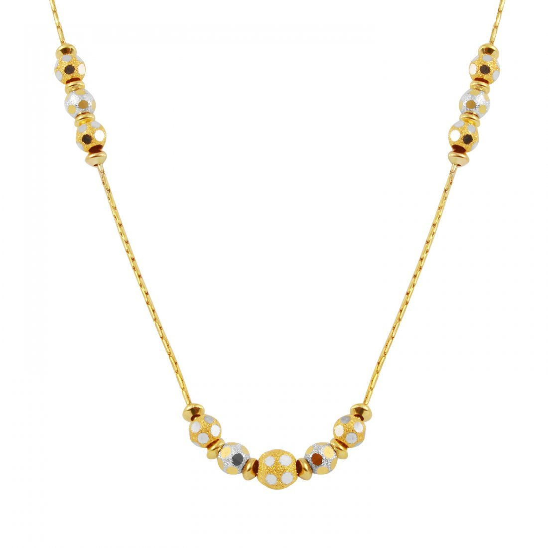 Ladies 14K Two tone Gold Necklace