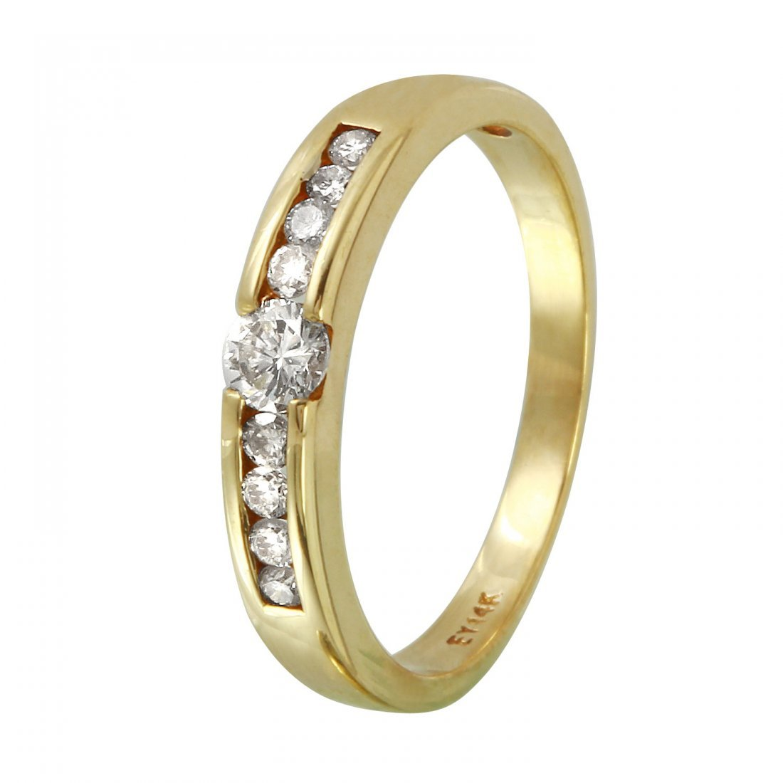 Ladies 0.32CTW Diamond 14K Yellow Gold Ring
