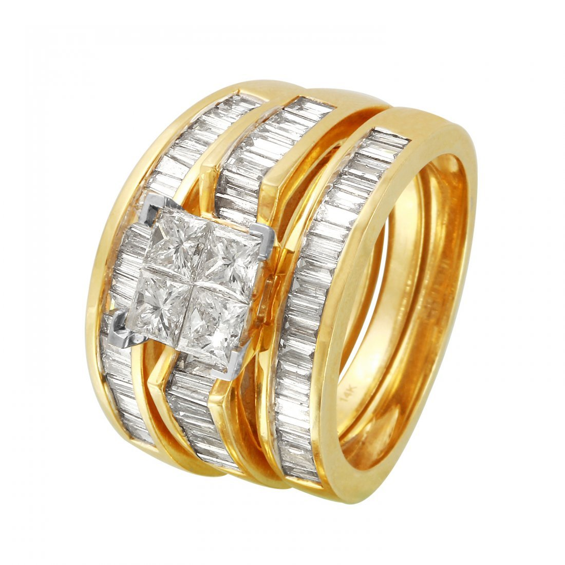 Ladies 3CTW Diamond 14K Yellow Gold Ring