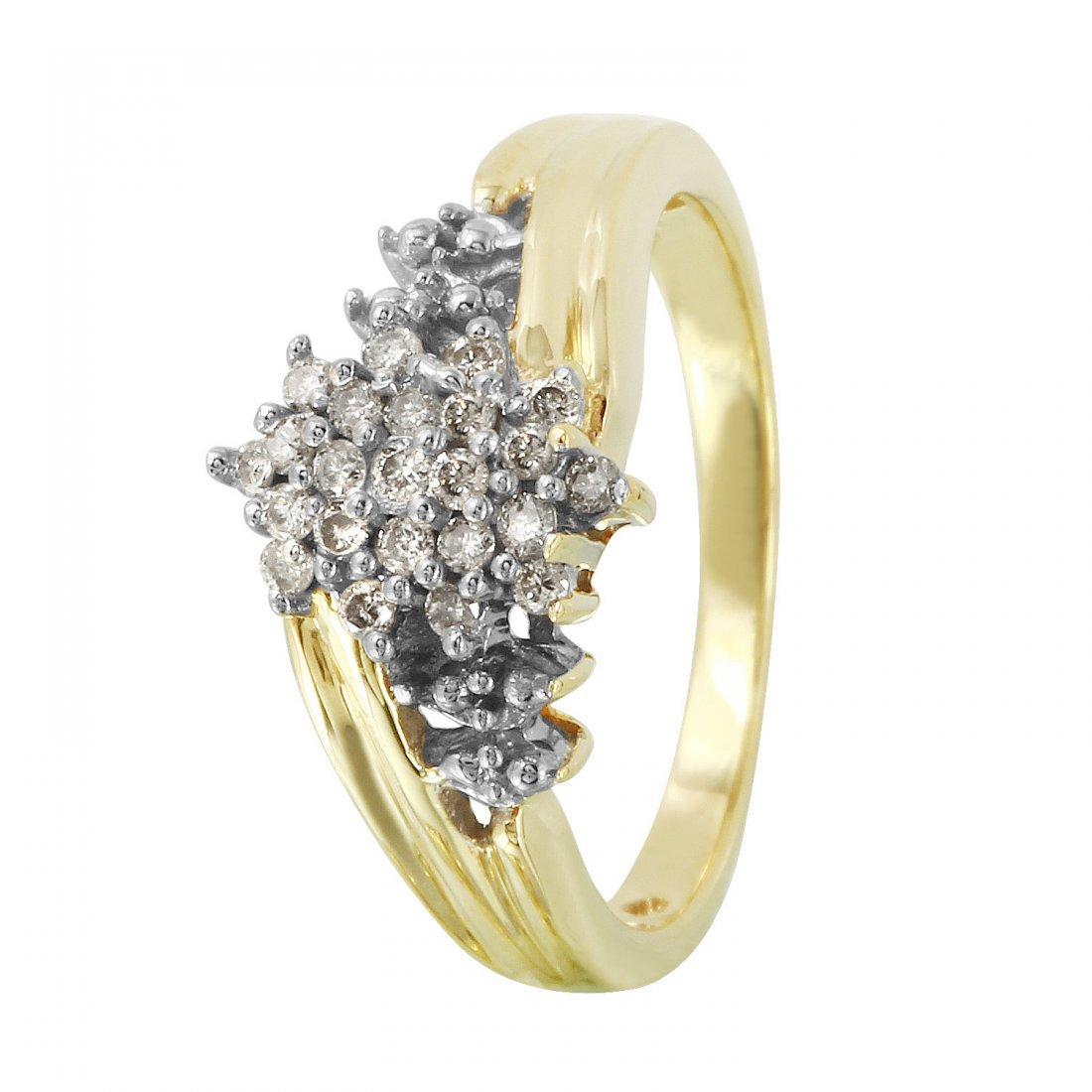 Ladies 0.25CTW Diamond 10k Yellow Gold Ring