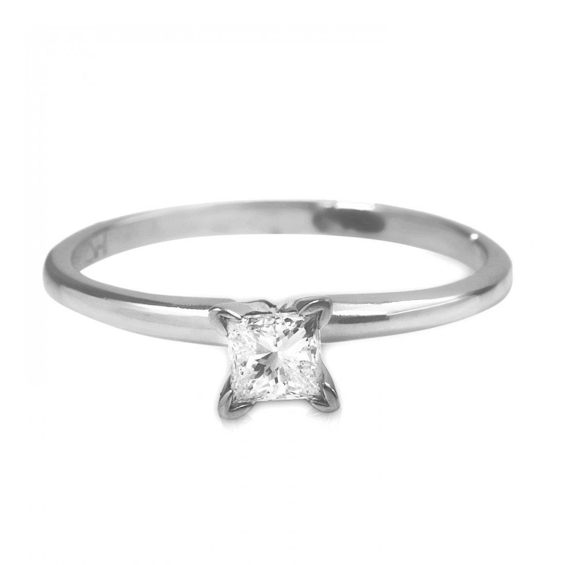 0.25CTW Diamond And  14K White Gold Ring