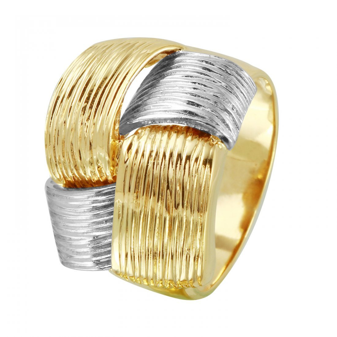 Ladies 14K Two tone Gold Ring