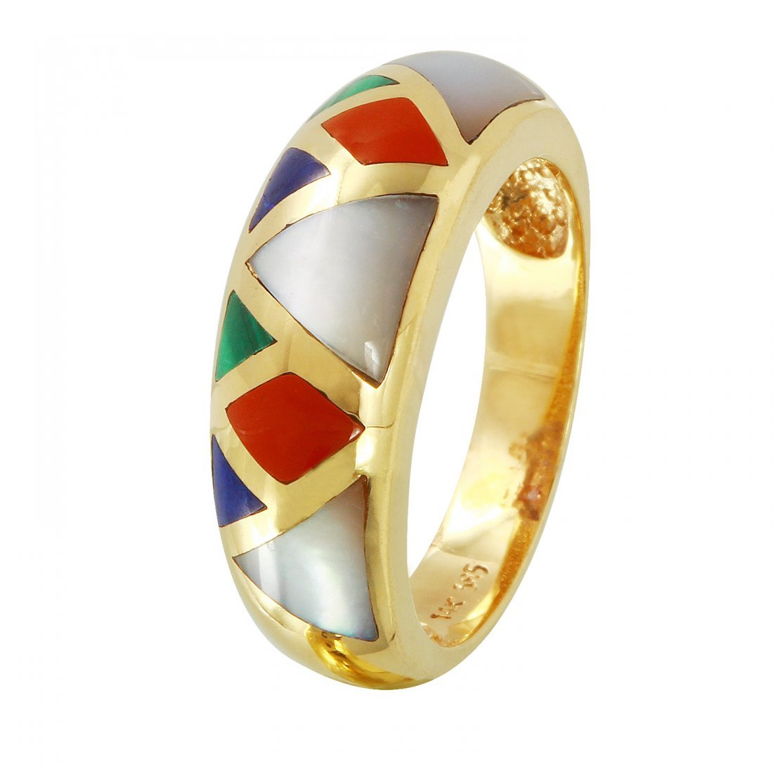 Ladies Mother of pearl 14K Yellow Gold Ring
