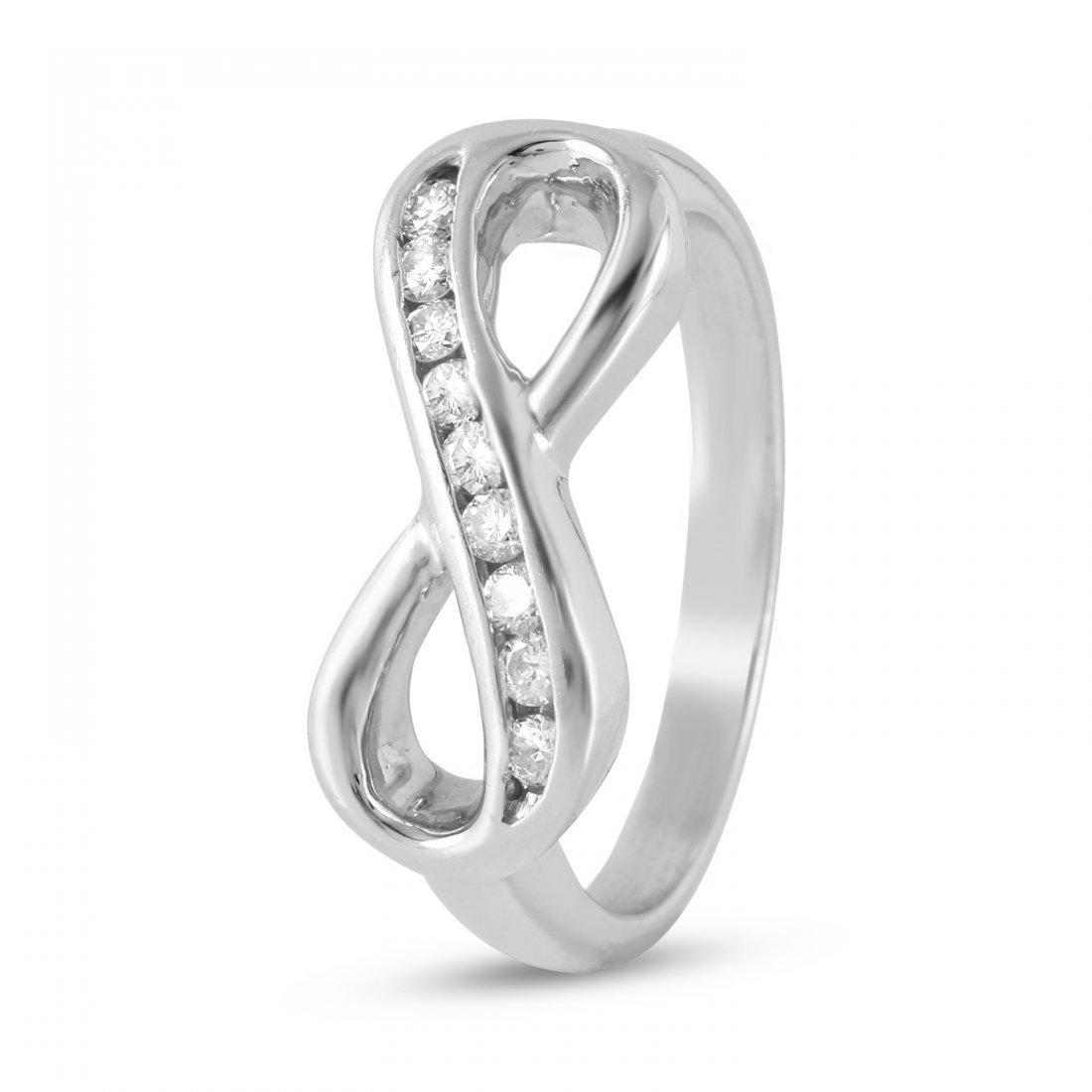 Ladies 0.25CTW Diamond 14K White Gold Ring