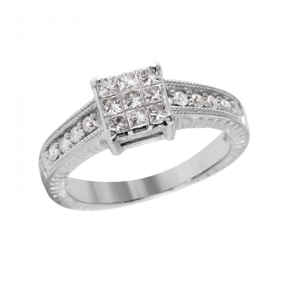Ladies 0.48CTW Diamond 14K White Gold Ring