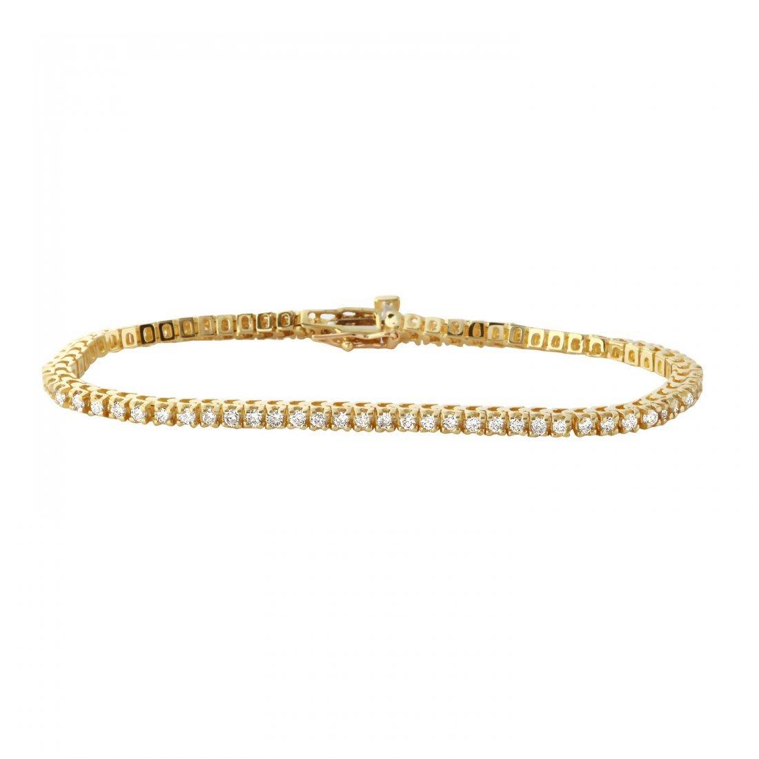 Ladies 2CTW Diamond 14K Yellow Gold Bracelet