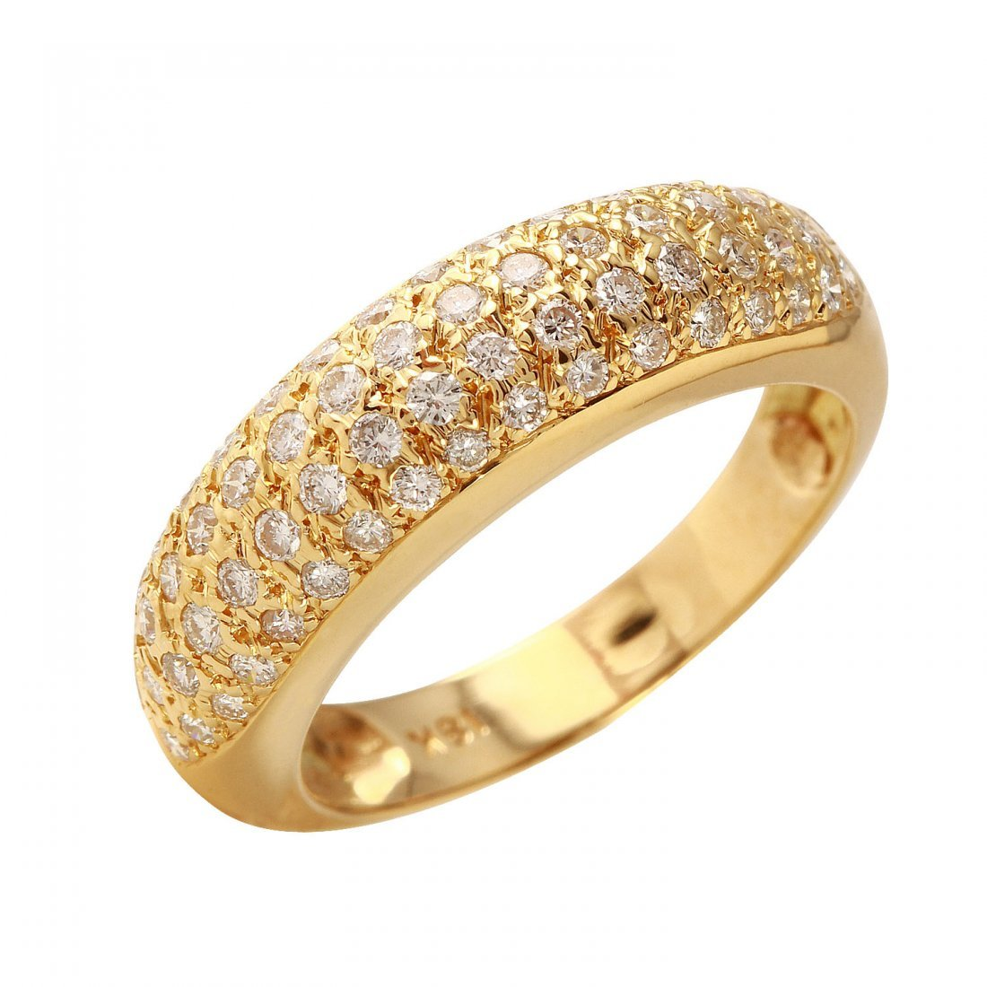 Ladies 0.75CTW Diamond 18K Yellow Gold Ring