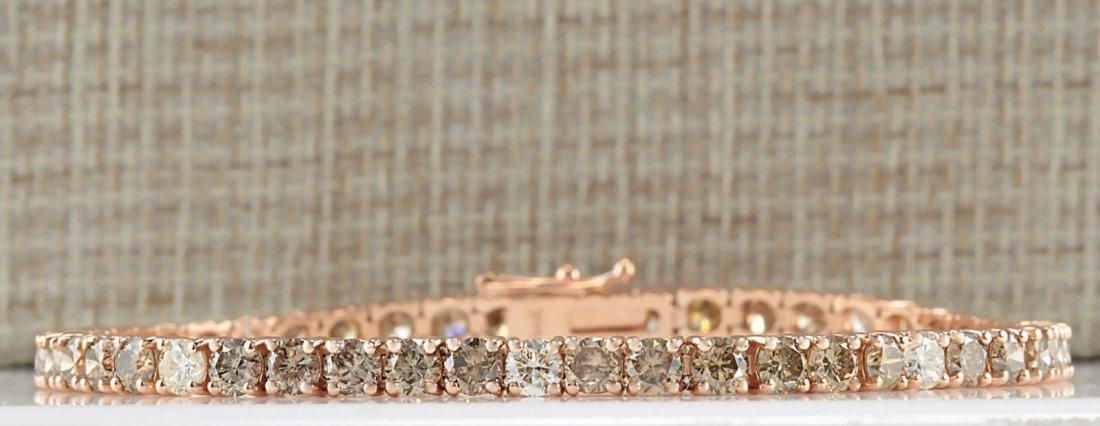 8.31CTW Natural Diamond Bracelet In 14K Rose Gold