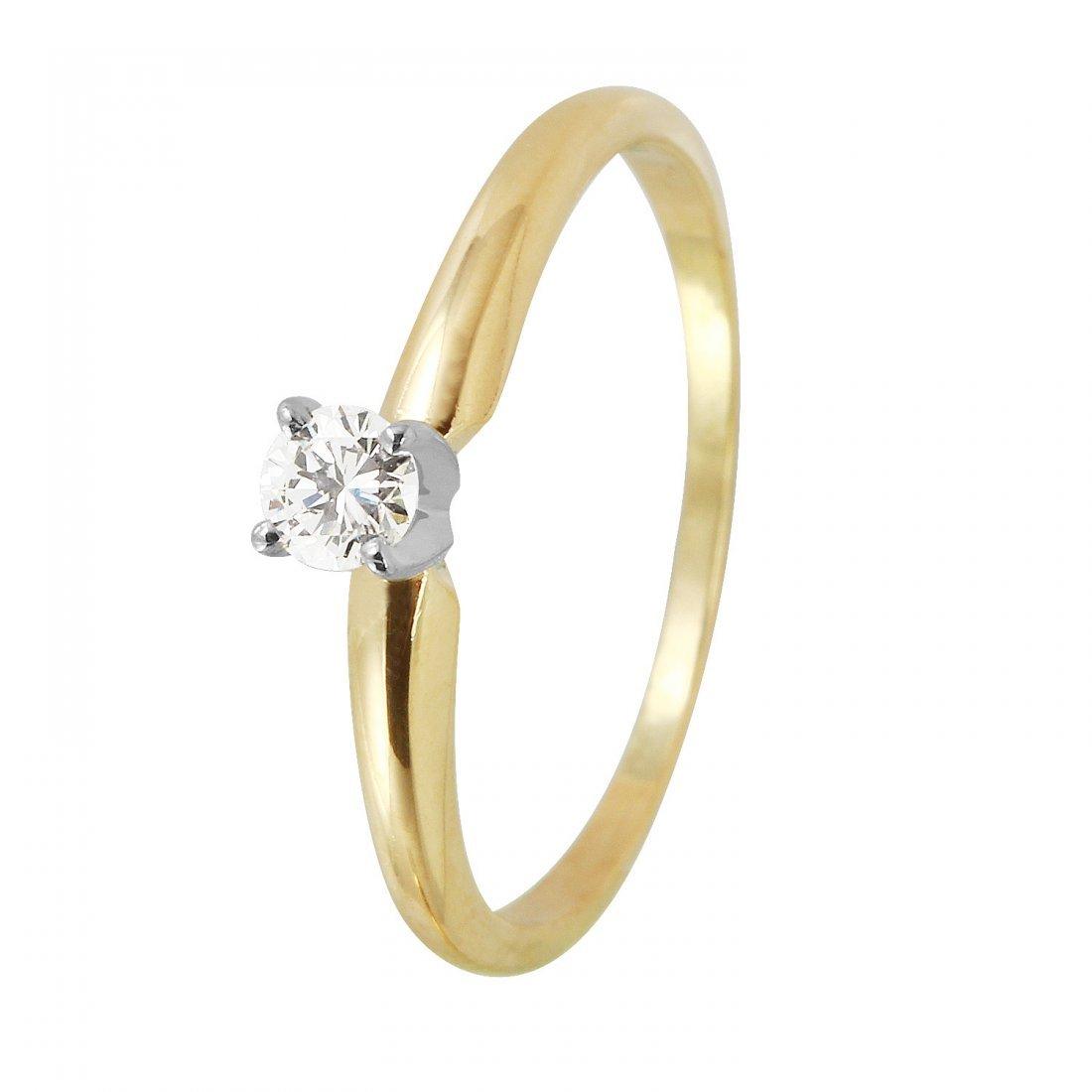 Ladies 0.17CTW Diamond 14K Yellow Gold Ring