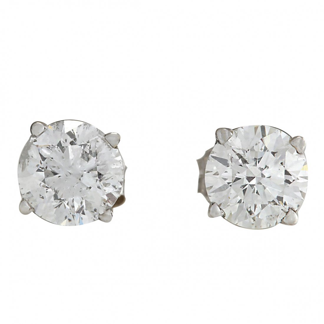 1.00CTW Natural Diamond Earrings 14K Solid White Gold
