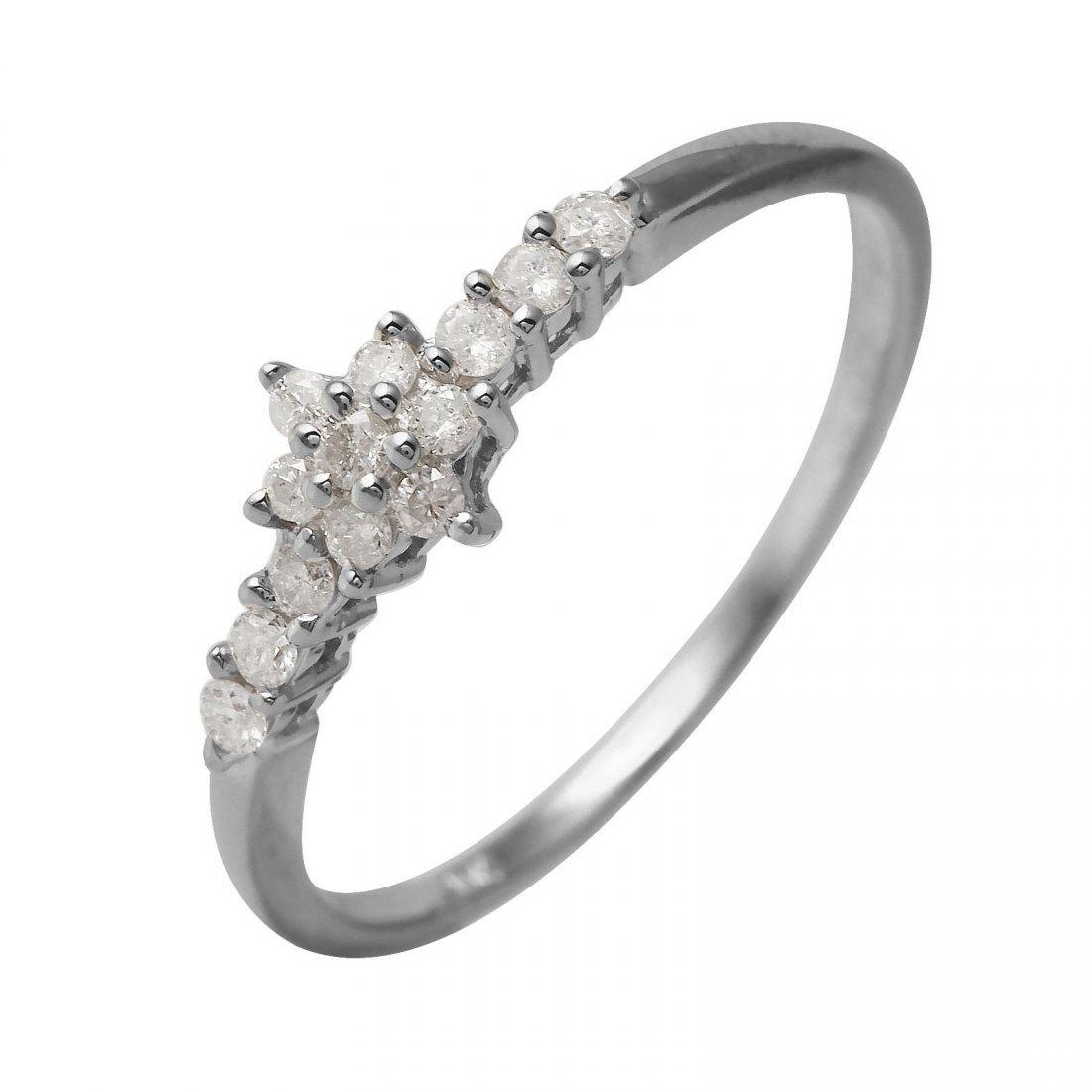 Ladies 0.23CTW Diamond 10K White Gold Ring