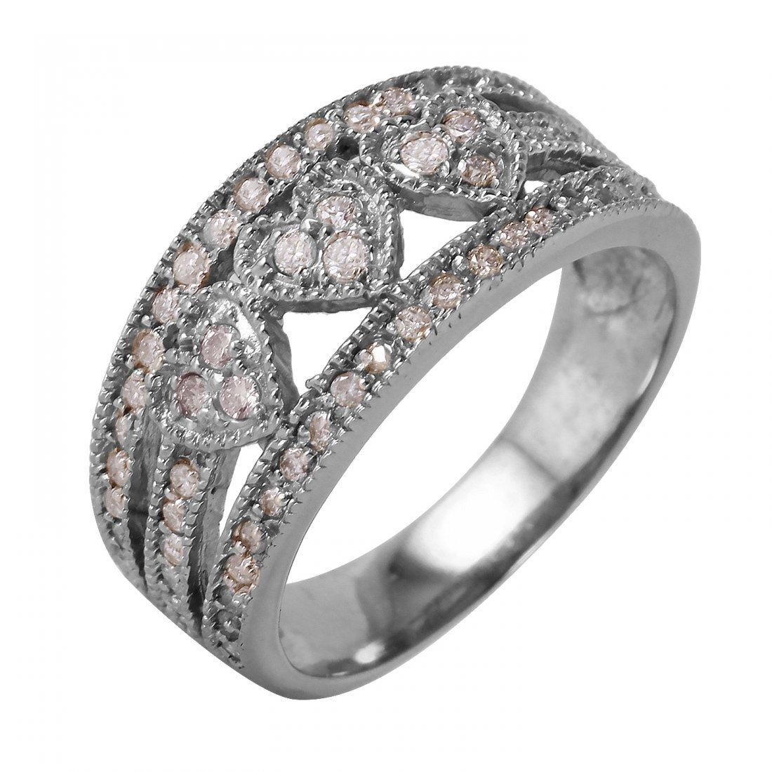 Ladies 0.44CTW Diamond 14K White Gold Ring