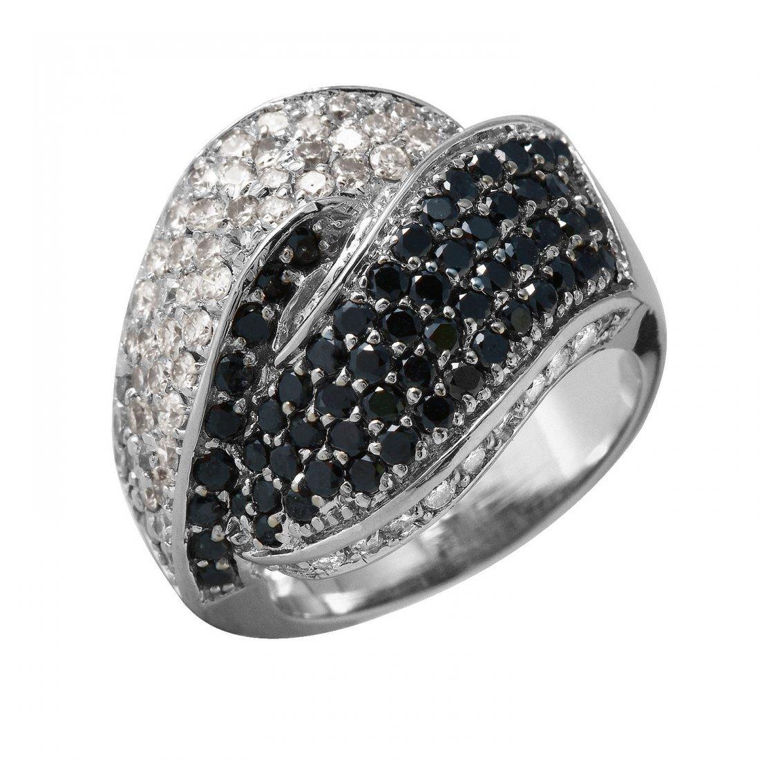 Ladies 3.53CTW Diamond 14K White Gold Ring
