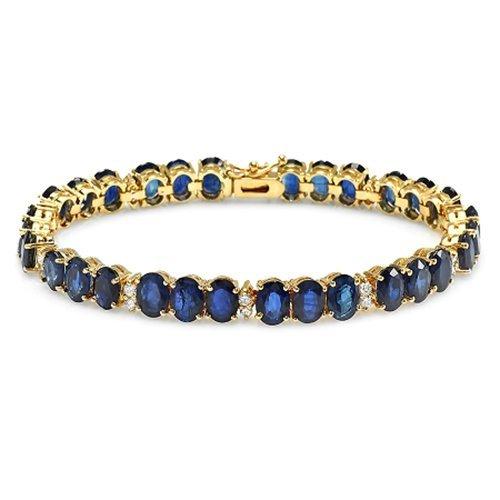 14K Sapphire And Diamond Bracele