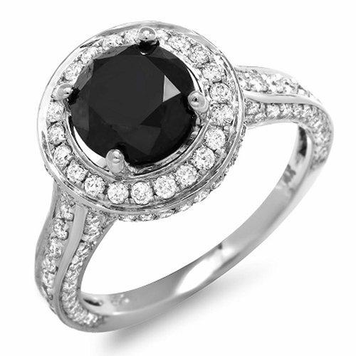 14K Black Diamond Ring