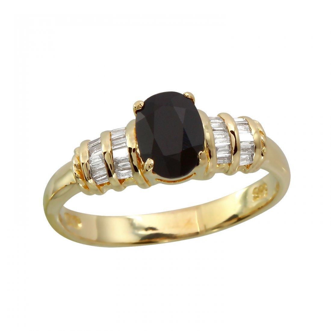 Ladies 1.12 CTW Sapphire And Diamond 14K Yellow Gold
