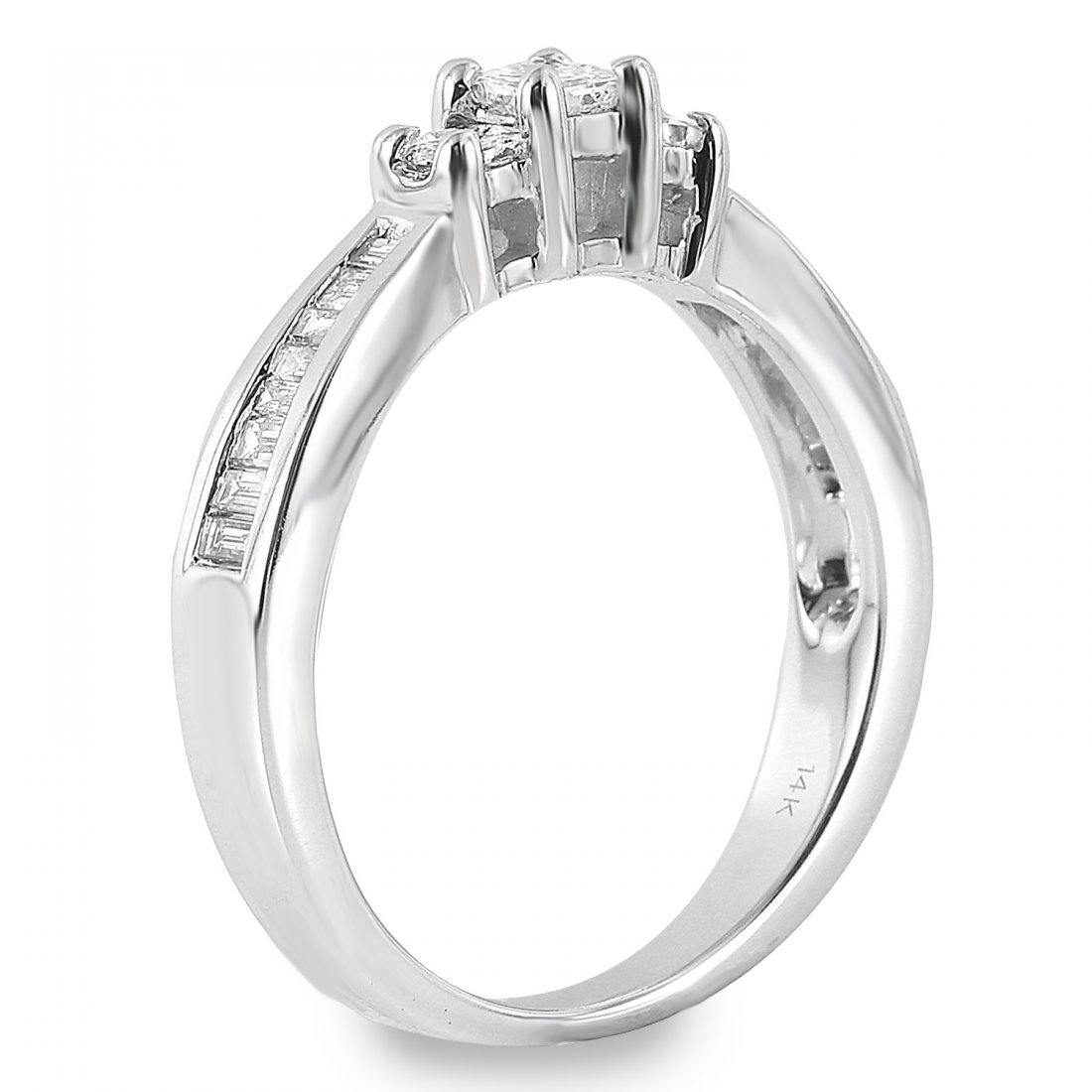 Ladies 0.65CTW Diamond 14K White Gold Ring - 2