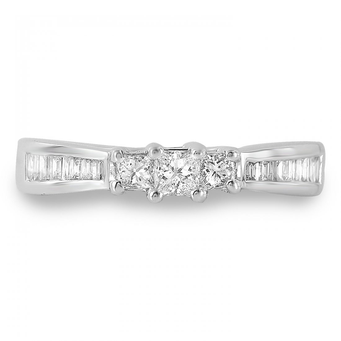 Ladies 0.65CTW Diamond 14K White Gold Ring - 3