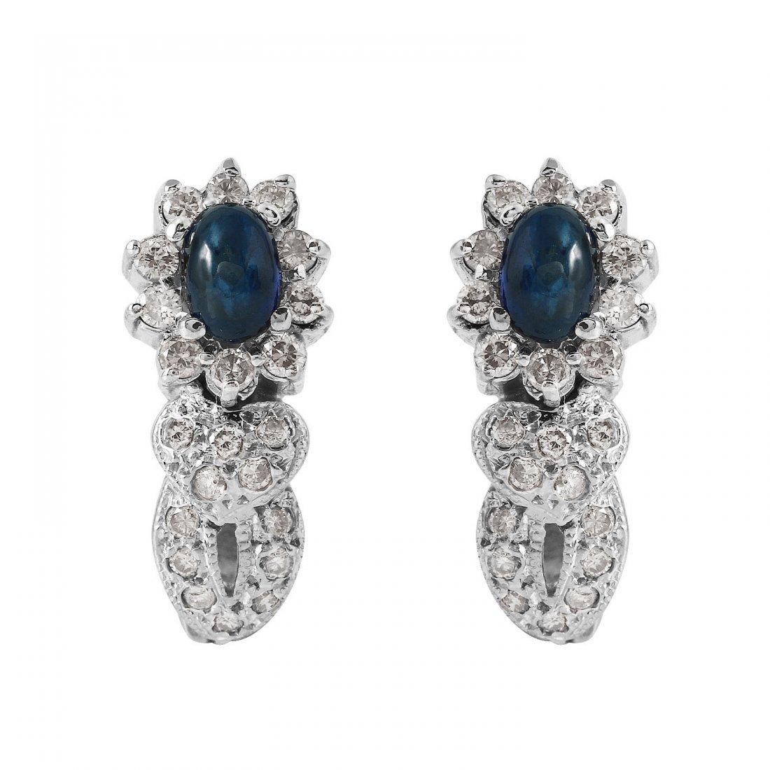 Ladies 2.26CTW Sapphire And Diamond 14K White Gold