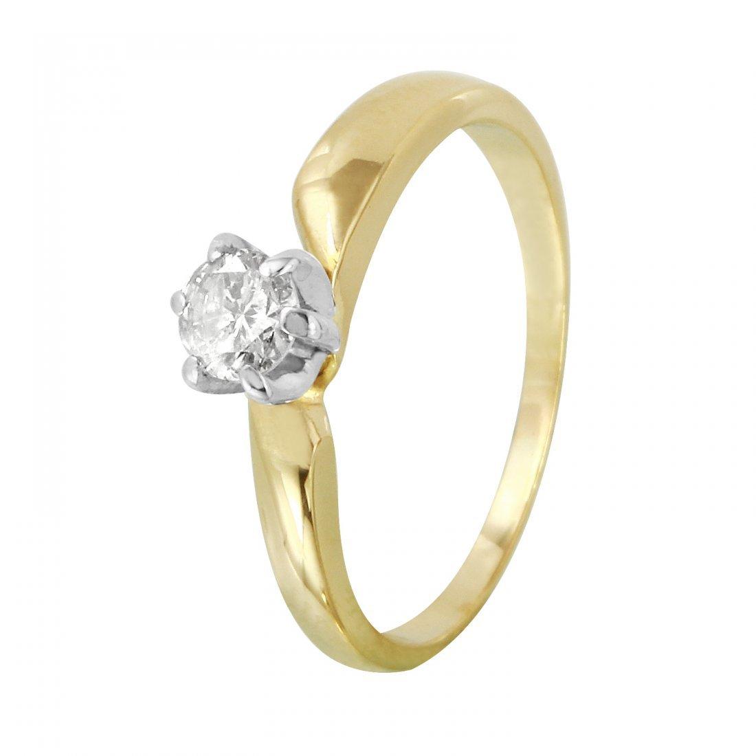 Ladies 0.2CTW Diamond 14K Yellow Gold Ring