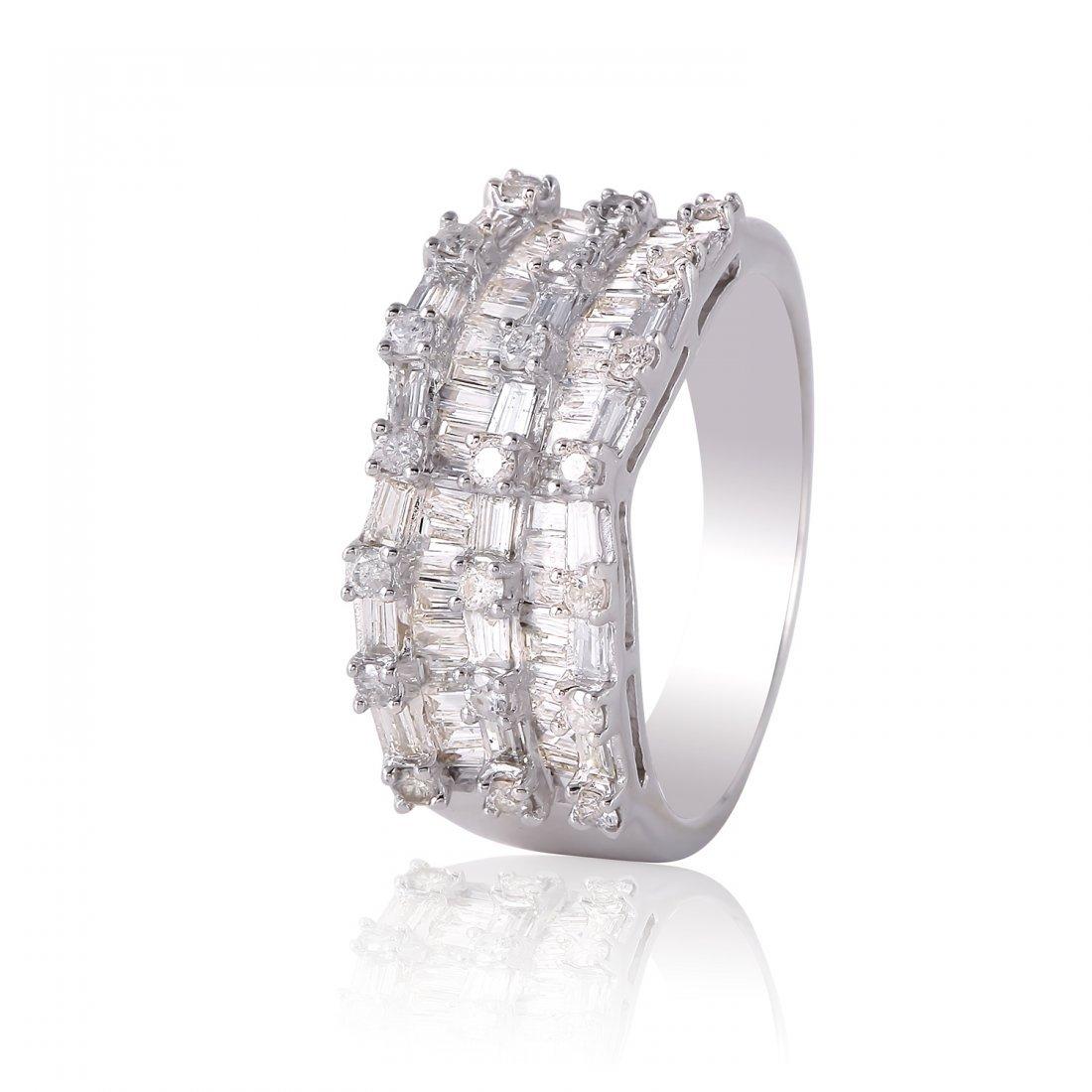 Ladies 1.33CTW Diamond 14K White Gold Ring