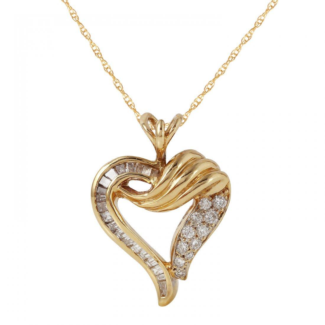 Ladies 1.3CTW Diamond 14K Yellow Gold Necklace