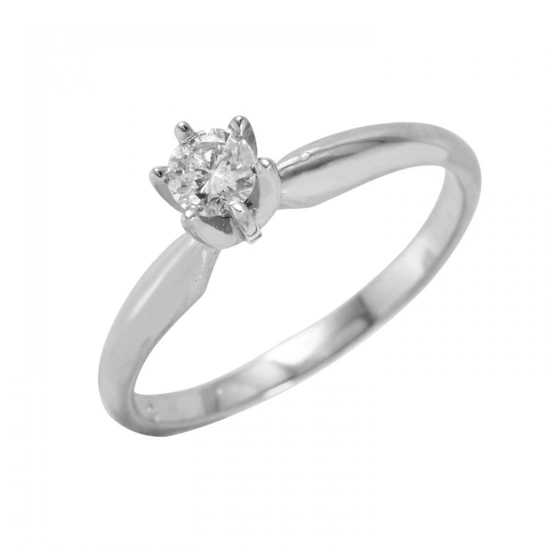 Ladies 0.2CTW Diamond 14K White Gold Ring