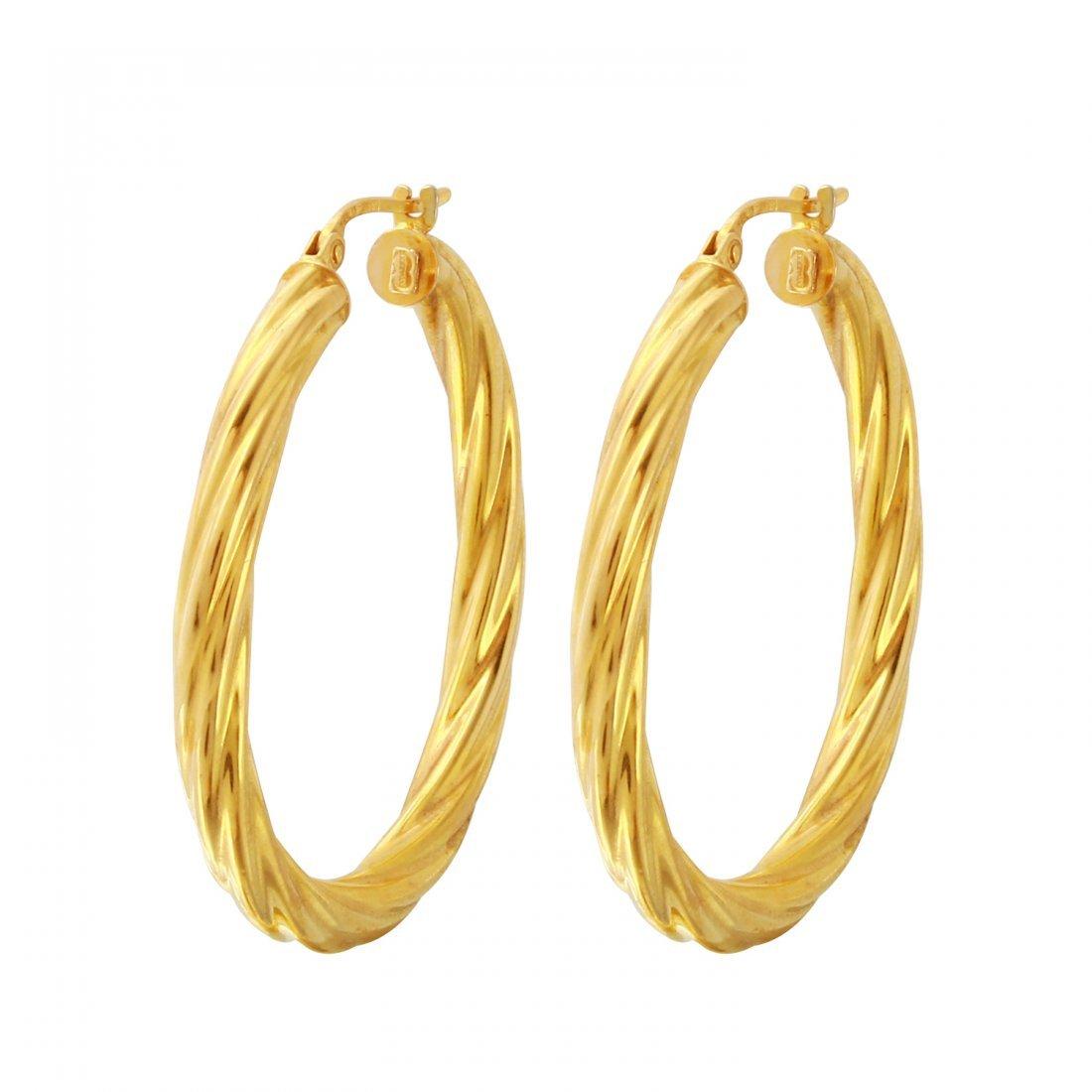 Ladies  14K Yellow Gold Earrings