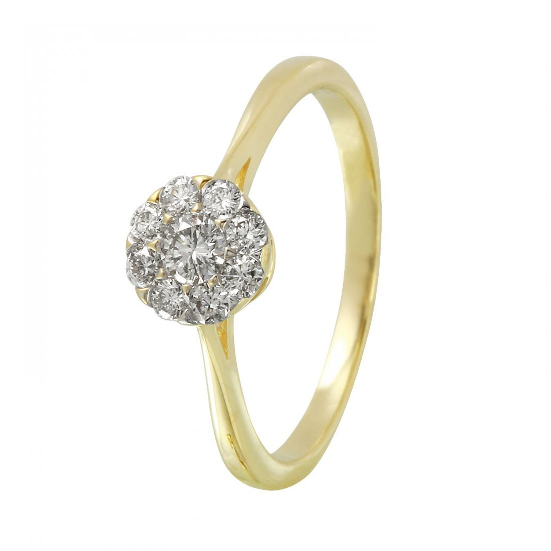 Ladies 0.32CTW Diamond 14K Yellow Gold Ring