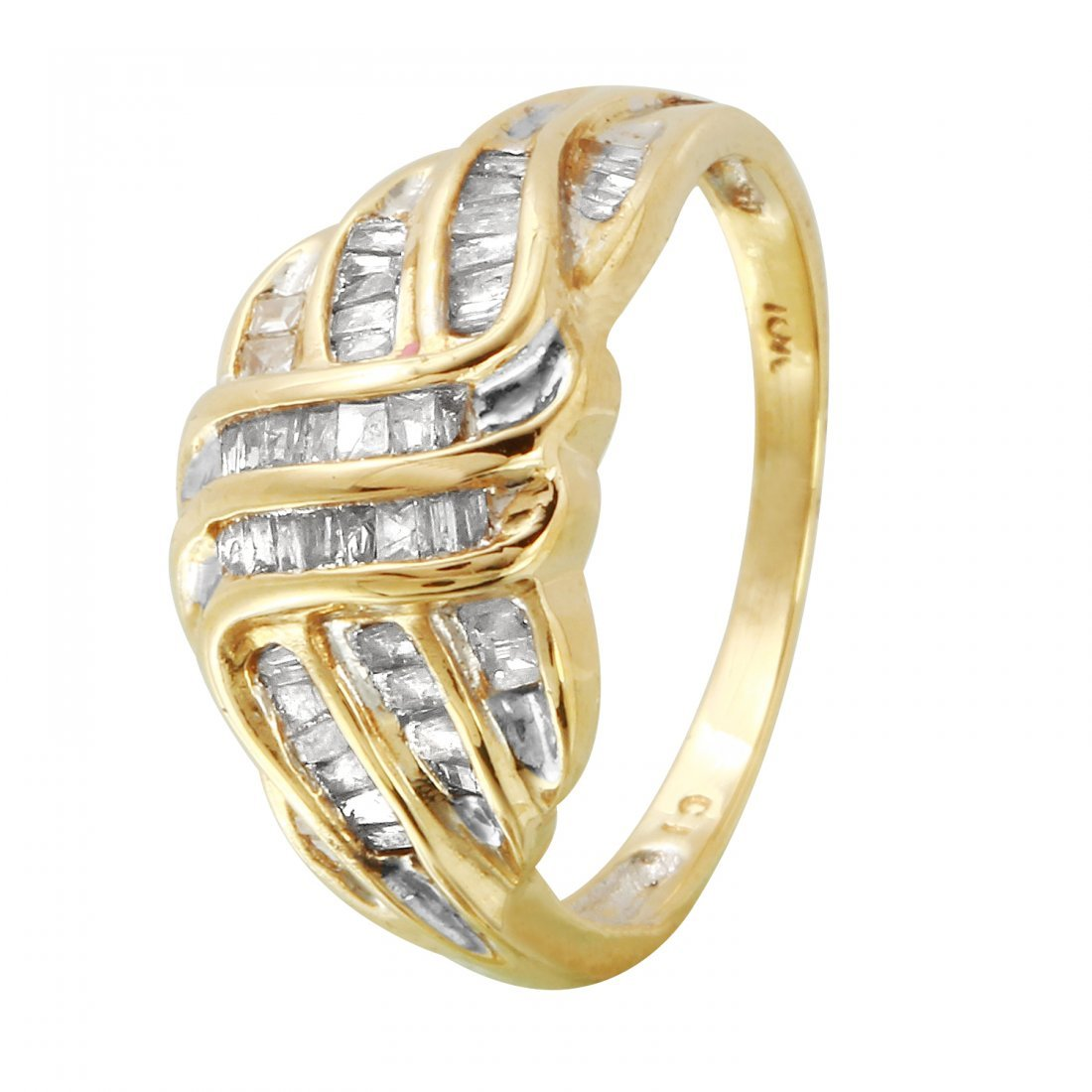 Ladies 0.52CTW Diamond 10k Yellow Gold Ring