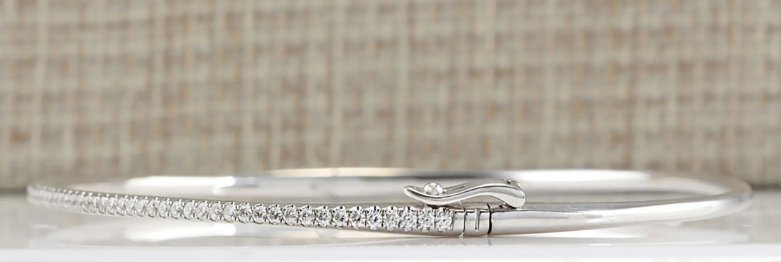 .80CTW Natural Diamond Bracelet In 14K White Gold