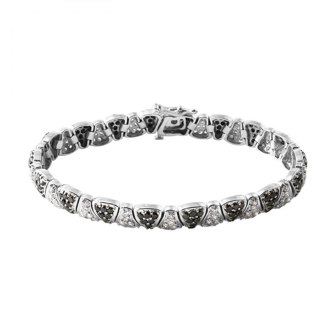 Ladies 4.09CTW Diamond 14K White Gold Bracelet