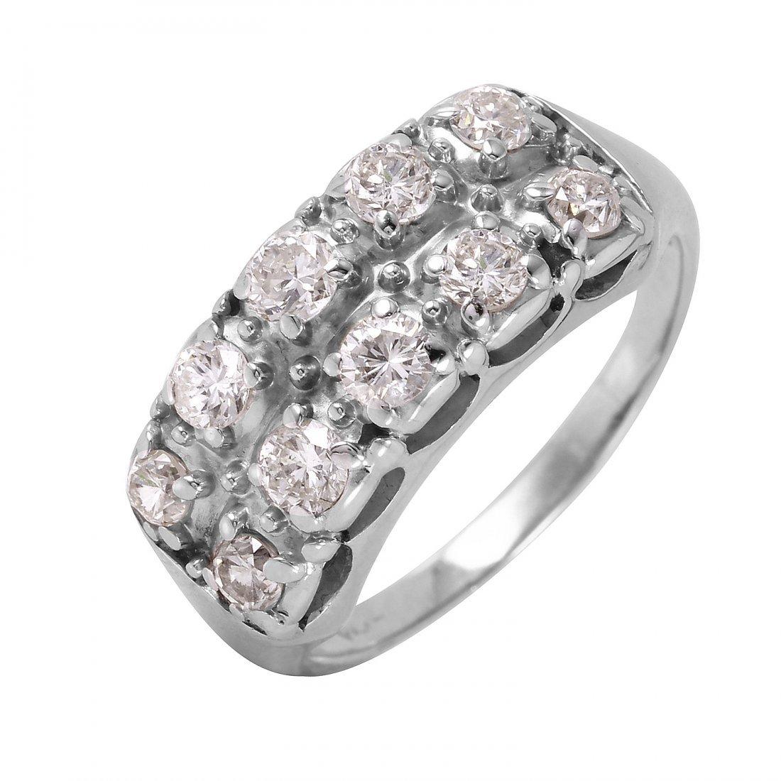 Ladies 1CTW Diamond 14K White Gold Ring