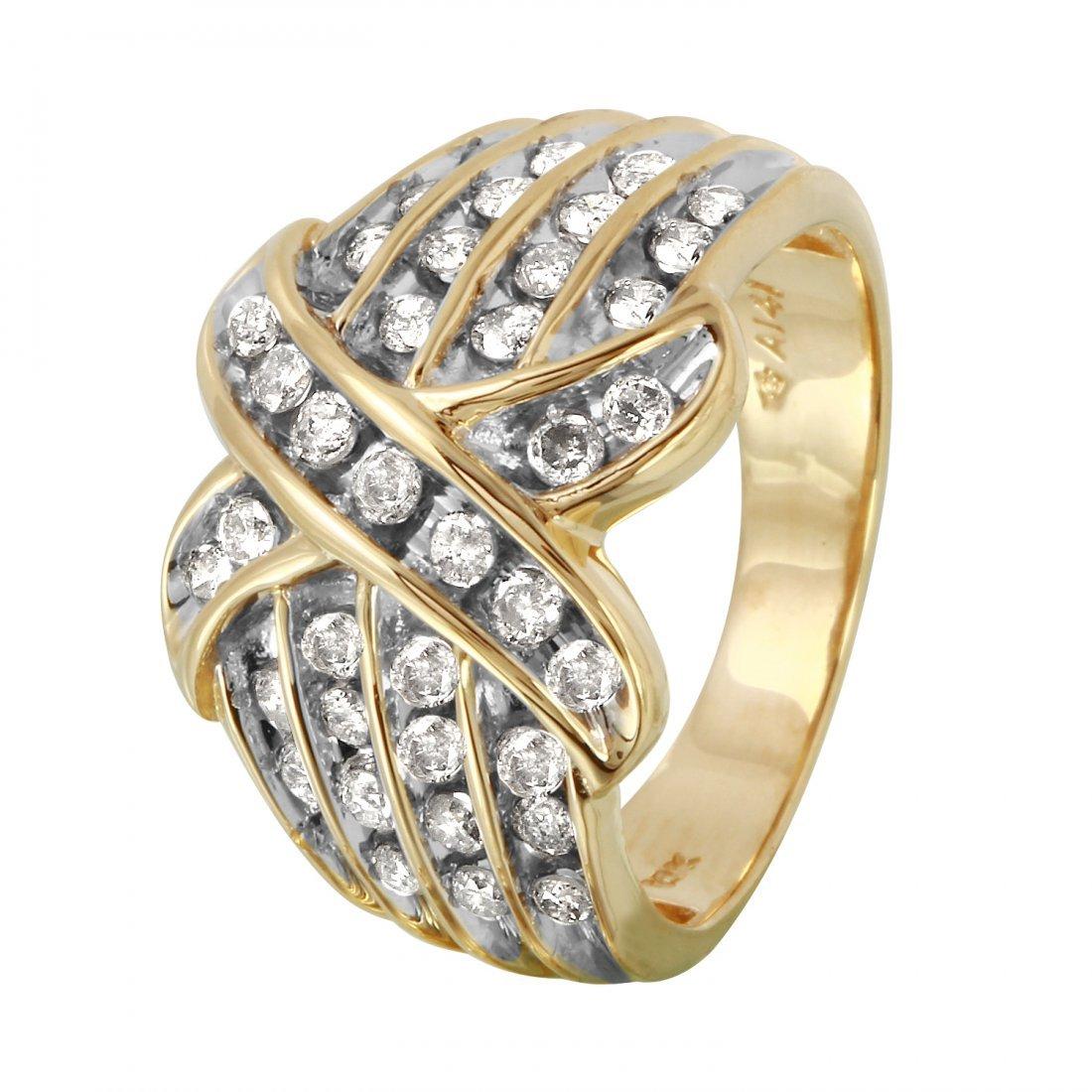 Ladies 1CTW Diamond 10k Yellow Gold Ring