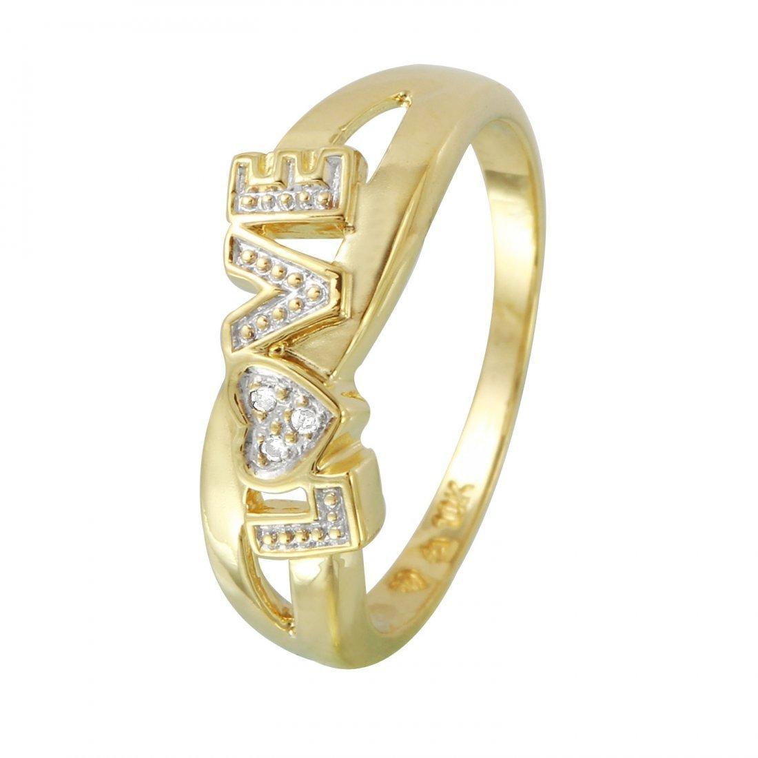 Ladies 1.25CTW Diamond 14K Yellow Gold Ring