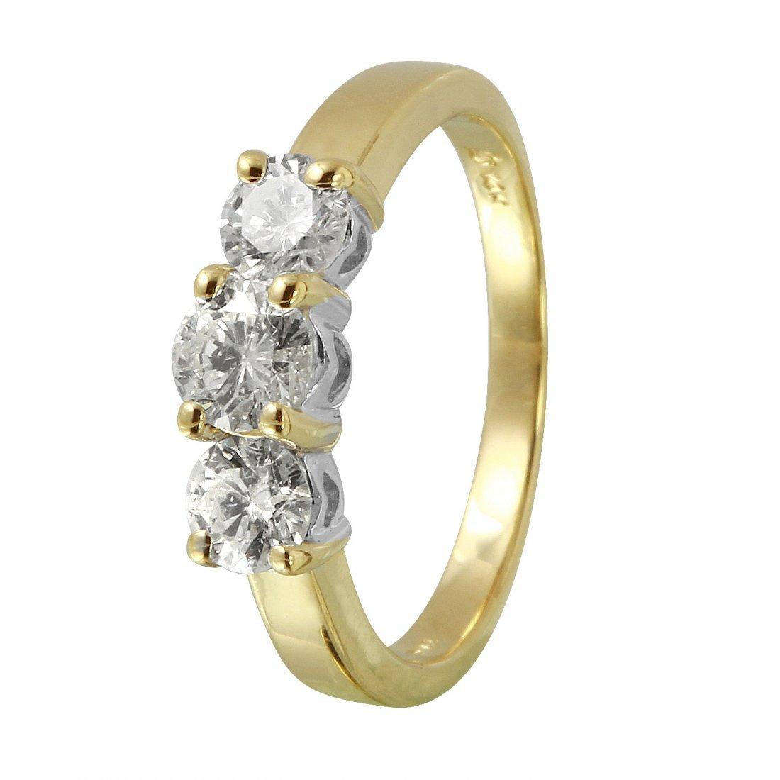 Ladies 1CTW Diamond 14K Two tone Gold Ring